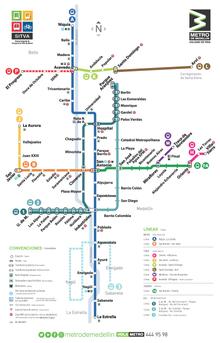 Metro De Berlin Mapa.Medellin Metro Wikipedia