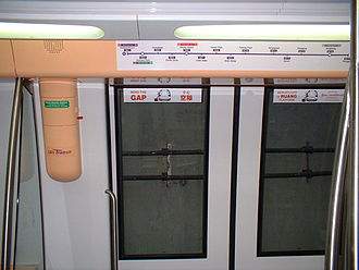 Rapid transit technology - Trains on the North East MRT Line in Singapore, manufactured by Alstom of France, are fully automated and are not manned by any driver.
