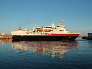 Hurtigruten - The 1982-built ''Narvik'' in Svolvær. The ship was sold in 2007.