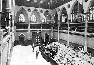 1891 in Canada - Prime Minister Sir John A. Macdonald lying in state in the Senate Chamber