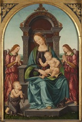 Madonna and Child with the Infant St John and Angels