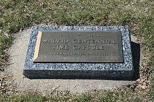 Madrid, Iowa - Madrid Centennial Time Capsule