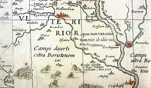 Ros River - Ros river on a map from the mid-1600s.
