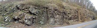 Mahantango Formation - Image: Mahantango Formation Rt 522 PA