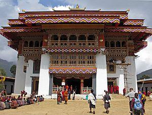 Gangteng Monastery - Gangteng Monastery after renovation in 2008