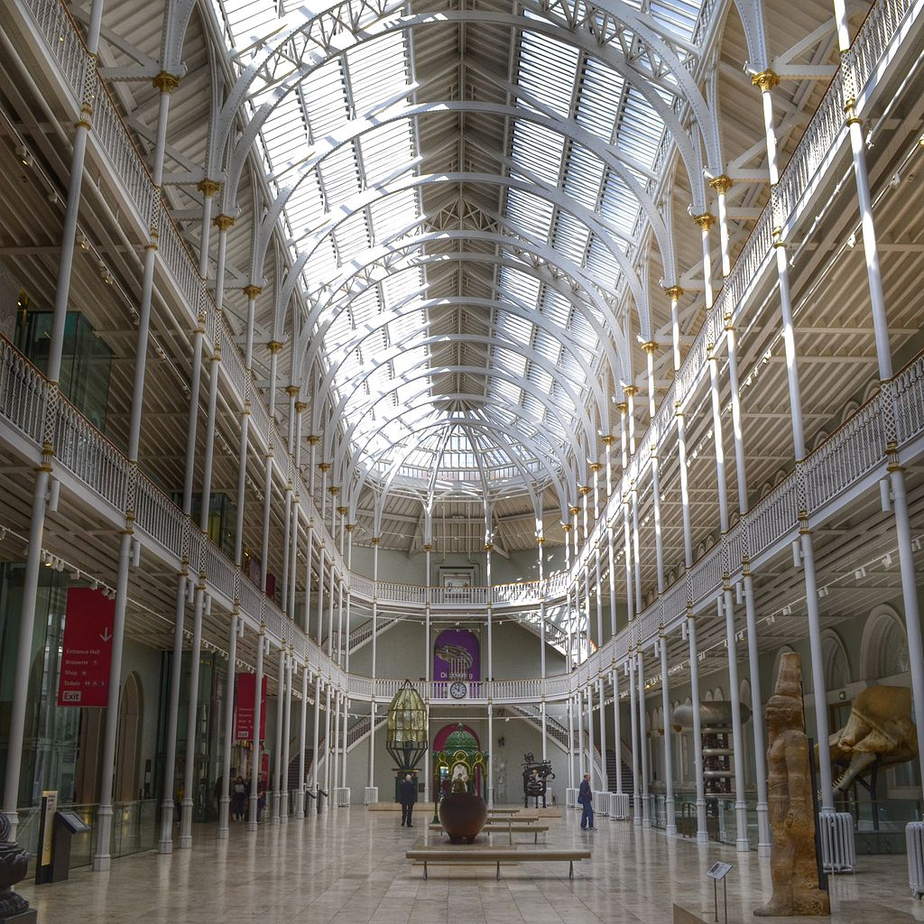 Main hall at the National Museum of Scotland