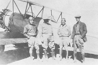 Siege of Naco - Image: Maj. Rayma L. Andrews (R), Mexican Colonel & Pilots Naco Sonora 1929 04 04