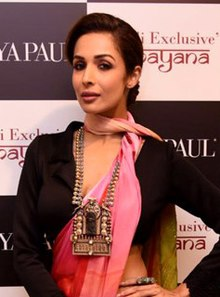 Malaika Arora graces the launch of the Diwali exclusive collection by Satyapaul (6) (cropped).jpg