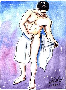Gay masseuse wants to look under towel