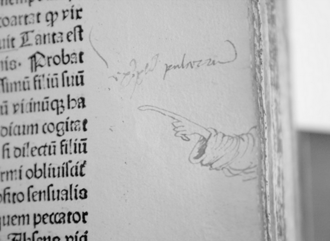 Index (typography) - Manicule from the fifteenth century