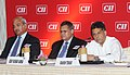 """Manish Tewari addressing the opening session of """"4th CEOs Roundtable on Broadcast"""" organized by CII, in New Delhi on April 18, 2013. The Secretary, Ministry of Information & Broadcasting, Shri Uday Kumar Verma is also seen.jpg"""