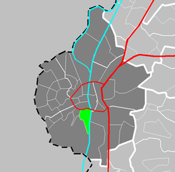 Location of Villapark in Maastricht