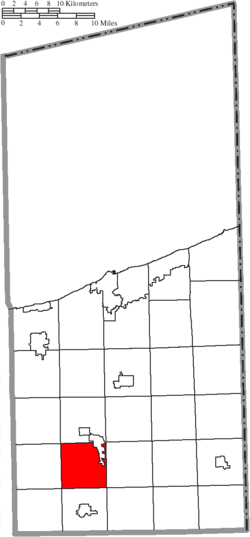 Location of Rome Township in Ashtabula County