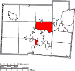 Location of St. Clair Township in Butler County
