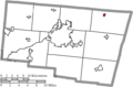 Map of Clark County Ohio Highlighting Catawba Village.png