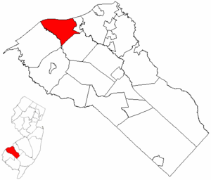 Greenwich Township, Gloucester County, New Jersey - Image: Map of Gloucester County highlighting Greenwich Township