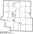 Map of Muskingum County Ohio Highlighting Philo Village.png