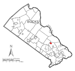 Map of Newtown Grant, Bucks County, Pennsylvania Highlighted.png