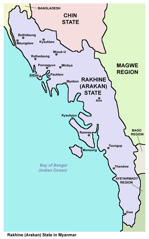 Rakhine State - Map of the Rakhine State