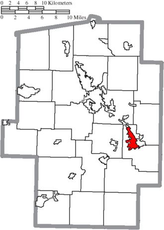 Uhrichsville, Ohio - Image: Map of Tuscarawas County Ohio Highlighting Uhrichsville City
