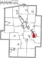 Map of Tuscarawas County Ohio Highlighting Uhrichsville City.png