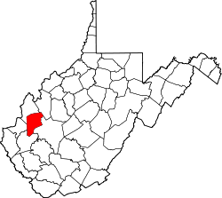 Map of West Virginia highlighting Putnam County.svg