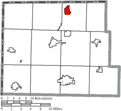 Location of Pioneer in Williams County