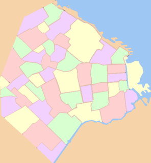 List of official districts of Buenos Aires
