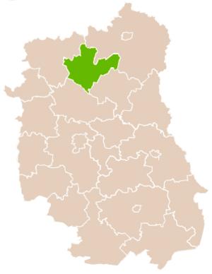 Radzyń Podlaski County - Image: Mapa Pow Radzyński