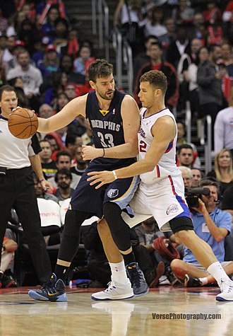 Marc Gasol - Gasol in November 2013, backing down Blake Griffin