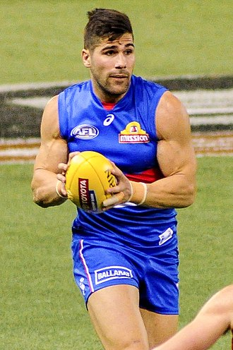 Marcus Adams (footballer) - Adams playing for the Western Bulldogs in March 2017