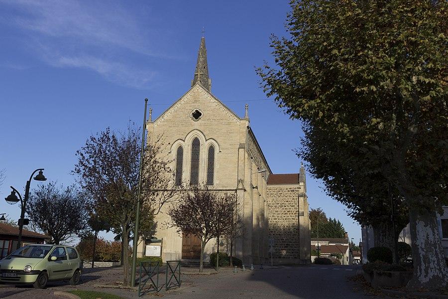 L'église de Marennes.