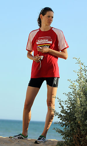 Margit Vanek - Margit Vanek at the European Cup elite triathlon in Quarteira, 2011.