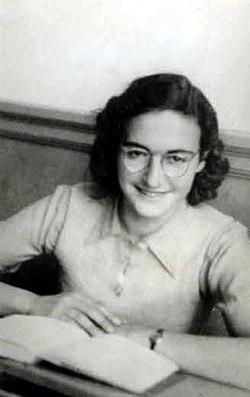 Margot Frank op het Joods lyceum.jpg