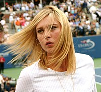 Maria Sharapova at the 2007 US Open (Cropped).jpg