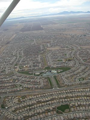 Maricopa, Arizona - Residential developments dominate the landscape of Maricopa.