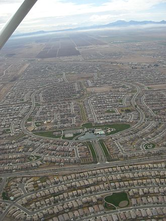 Maricopa, Arizona - Residential developments dominate the landscape of Maricopa