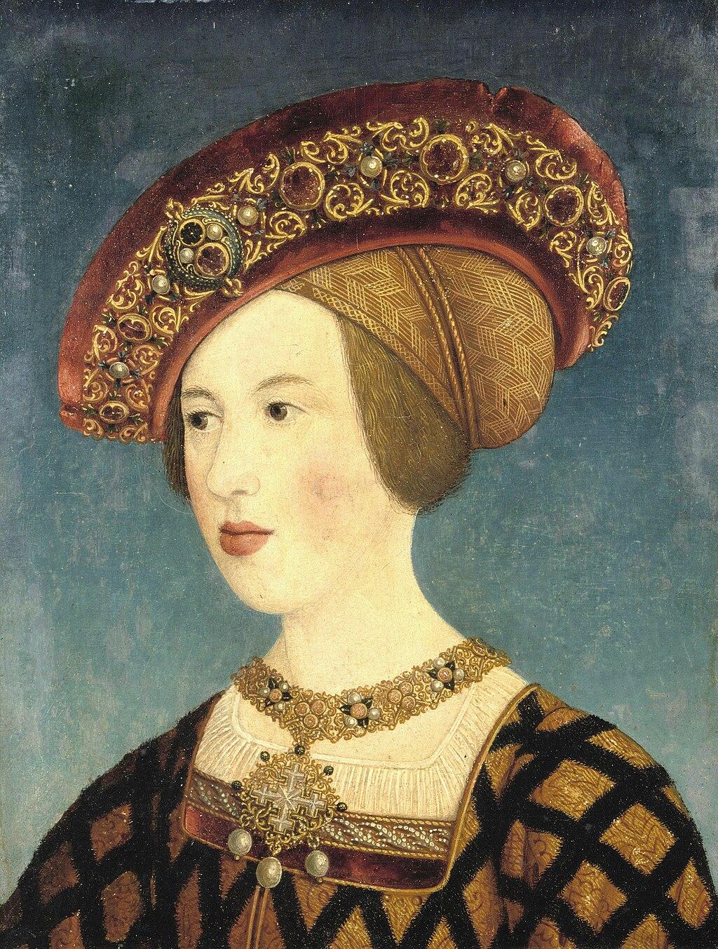 María de Hungría. Hans Maler zu Schwaz. 1519