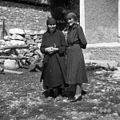 Marija Cek, 84 letna in Ivanka Cek, Hrušica 1955.jpg