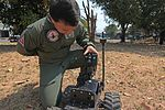 Marine Wing Support Squadron 172 and Royal Thai Air Force explosive ordnance disposal train together during Cobra Gold 2011 DVIDS365912.jpg