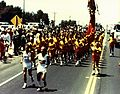 Marines and Olympics Torch Bearer, 1984 (7629405274).jpg