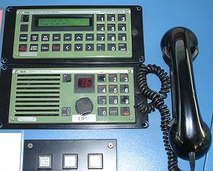Seaspeak - A VHF set and a VHF channel 70 DSC set, the DSC on top.