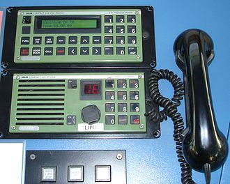 Marine VHF radio - A VHF set and a VHF channel 70 DSC set, the DSC on top