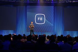 Mark Zuckerberg on stage at Facebook's F8 Developers Conference 2015 (16727300987).jpg