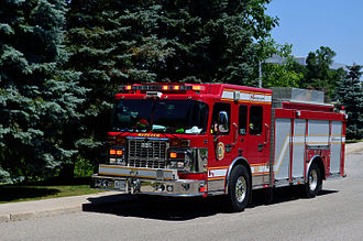 Markham, Ontario - Fire engine of Markham Fire and Emergency Services