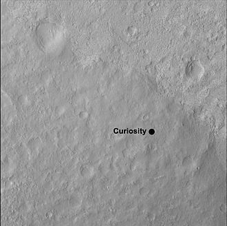 "Bradbury Landing - ''Curiosity'' Rover Landing Site -""Yellowknife"" Quad 51 (1-mi-by-1-mi) of Aeolis Palus in Gale Crater."