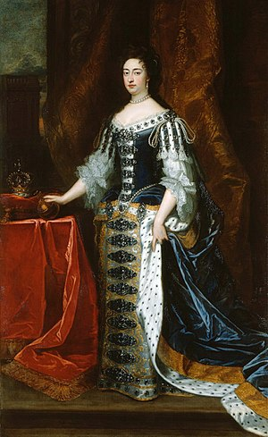Mary II of England - Portrait by Sir Godfrey Kneller, 1690