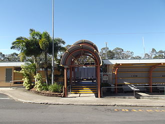 Maryborough West railway station - Station front in July 2012