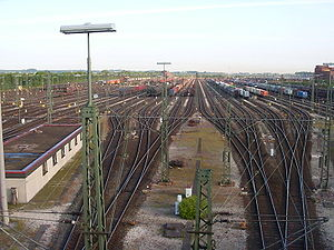 Maschen Marshalling Yard - The north-south set of 48 departure sidings