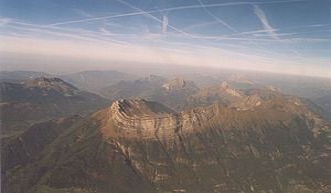 Bauges - Image: Massif Des Bauges 1024